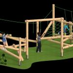 CAD image play equipment from AE Evans.