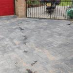 Completed installation of driveway.