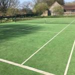 Line markings and artificial tennis surface installed by Bingham Ground Services
