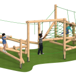 Clamber Stack Figlio - Bespoke rope colours and play panel designs available