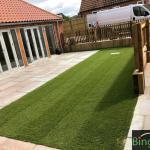 What a beautiful fresh looking lawn, ready for all year round use!