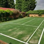 beautiful new tennis court installation for a private client.